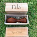 Toys of Wood - Wooden Baby Rattle with Personalised Keepsake Box