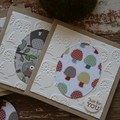 Christmas Cards 5 Woodland Cards Woodland Creatures Owls Mushrooms Birds