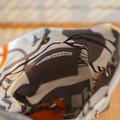 the Mini Hobo Bag - upcycled leather jacket - mottled