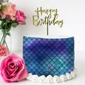 Mermaid Inspired Edible Icing Cake Wrap Topper - FREE EXPRESS SHIPPING