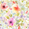 Flower Floral Edible Icing Cake Wrap Topper - ECW010