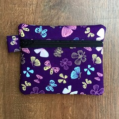 Coin Purse - Purple Butterflies