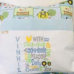 Reading Pillow Custom Order for Sharon