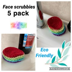 Rainbow Eco Friendly Face Scrubbies