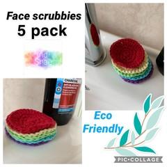 Rainbow Eco Friendly Face Scrubbies