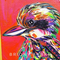 """Kai Kookaburra"" original painting on canvas"