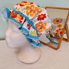 Adult Bright Floral Shower Cap