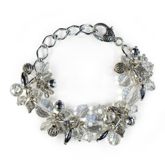 Chunky Bracelet – Silver and Crystal