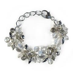 Chunky Bracelet – Silver and Crystal
