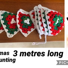Christmas Crocheted Bunting