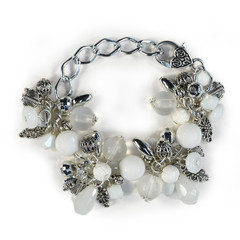 Chunky Bracelet – White and Silver