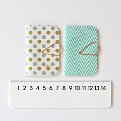 Mini Books {2} Green Dot Chevron | Mini Books | Mini Notebook | Holiday Gifts
