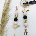 Keychain or Lanyard - Pale Pink