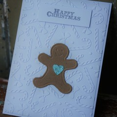 Happy Christmas Card A Gingerbread Man Card Christmas Card Gingerbread Card