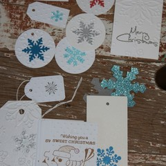 Over 20 Assorted Snowflake Tags Princess Party Tags Christmas Gift Tags