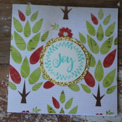 Joy Card Teacher Card Apple Tree Card Christmas Card
