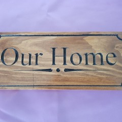 Signs For Our Home, Our Haven Wooden