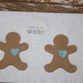 Christmas Card Gingerbread Man Card Celebrate the Wonder Card Twins Card