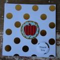 Teacher Card Apple Card Apple for the Teacher Card Christmas Card