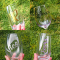 Personalised Glass Wine Drink Cup Teacher gift Kris Kringle - LOCAL PICKUP ONLY