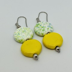 Make Me Smile Collection - Colour Me Happy. Kazuri Bead Earrings.