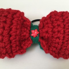 Christmas Outfit Hair Elastic / Bows / Ponytail