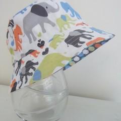 Boys summer hat in elephant fabric