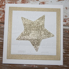 Christmas Card Glitter Gold Star Card First Christmas Card