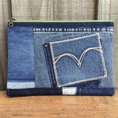 Upcycled Denim Pencil Case/Pouch