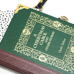 Charles Dickens bag - A Christmas Carol - Upcycled book - Bag made from a book