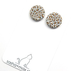 Leopard Print stud earrings by Sasha+Max studio