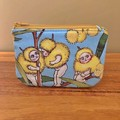 Coin purse - blossom babies on blue