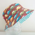 Boys summer hat in cars fabric