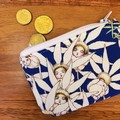 Coin purse - May Gibbs midnight flannel flowers