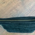 Upcycled Denim Pouch - Brown/Black