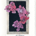 FLORALS ART CARDS -Set of 4 Signed Hand Made Cards by Val Fitzpatrick