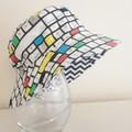 Boys summer hat in keyboard fabric