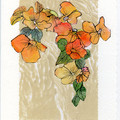 """""""FLORALS"""" ART CARDS -Set of 6 Signed Hand Made Cards by Val Fitzpatrick"""