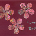 SET OF 5  BIRTHDAY FLORAL CARDS