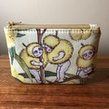 Coin purse - blossom babies on yellow