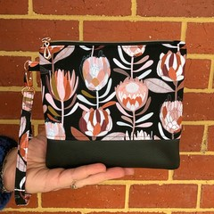 Protea -Wristlet with leather accent