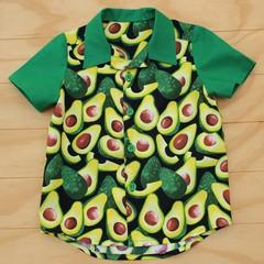 Boy's Button up Shirt - Smashing Avocado - Size 5