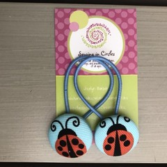 Ladybugs hair ties
