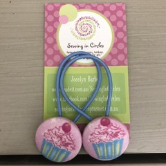 Cupcake  hair ties