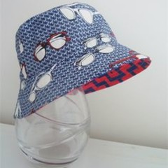 Boys summer hat in sunglasses fabric