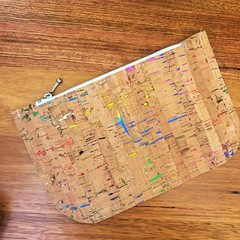 Cork Pouch - Rainbow Flecks