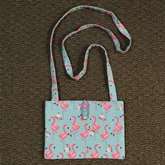 Flamingos cross-body bag