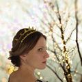 Gold crown, spike crown, gold rose crown, alternative wedding, gothic bride