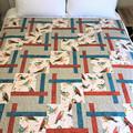 Birds handmade patchwork quilt