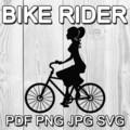 Bike Rider Digital Clipart Image High Resolution